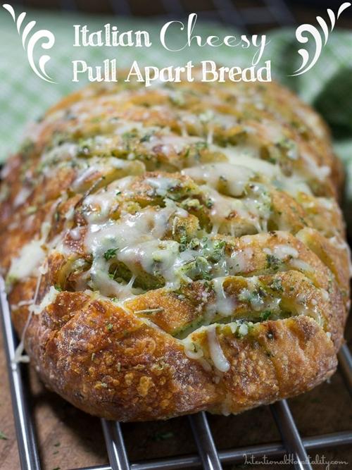 Italian Cheesy Pull Apart Bread
