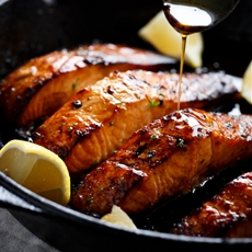 Browned Butter Honey Garlic Salmon