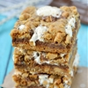 Reeses Peanut Butter Smores Oatmeal Cookie Bars