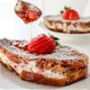 Strawberries & Cream Stuffed French Toast with Strawberry Maple Syrup