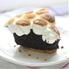 Skillet Smores Brownie Pie