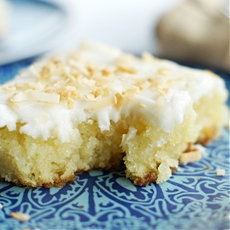 White Texas Coconut Sheet Cake