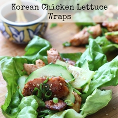 Super Easy Korean Chicken Lettuce Wraps