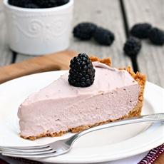 Frozen Blackberry Cream Pie