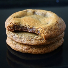 Soft & Chewy Dark Brown Sugar Coconut Oil Cookies
