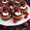 Triple Chocolate Mini Cheesecakes