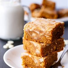 Cinnamon Cheesecake Swirl Pumpkin Cake Slice