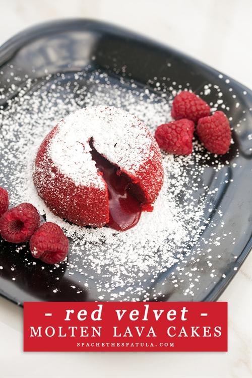 Red Velvet Molten Lava Cakes