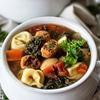 Italian Turkey Meatball Tortellini Soup