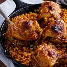 One Pan Spanish Chicken and Rice