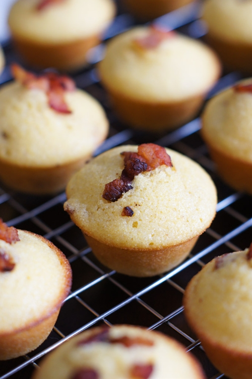 Mini Bacon Corn Muffins