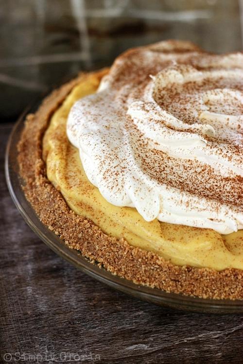 {No Bake} Eggnog Pie