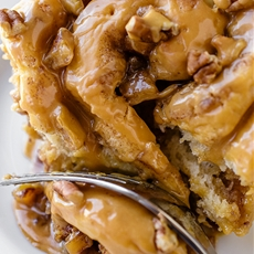 Soft and Fluffy Caramel Apple Sticky Rolls with Caramel