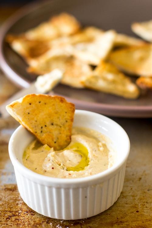 Whipped Feta Dip with Garlic Pita Chips