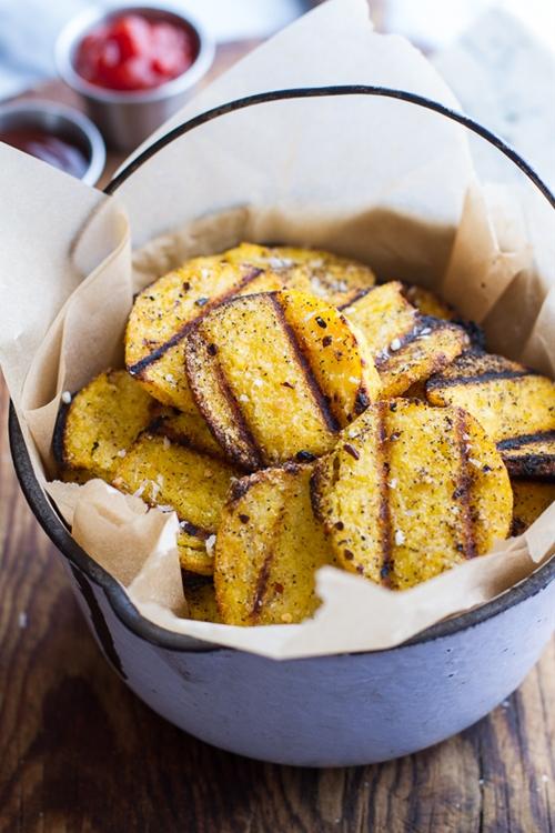 Easy Grilled Parmesan Polenta Chips