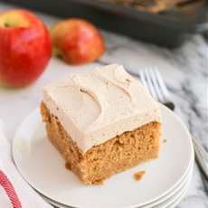 Apple Cake with Fluffy Brown Sugar Buttercream