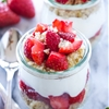 Strawberries and Cream Yogurt Quinoa Parfaits