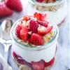 Strawberries and Cream Yogurt Quinoa Parfaits