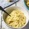 Creamy Leek Spaghetti
