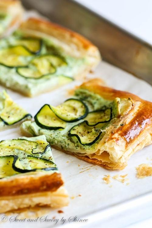 Zucchini Ricotta Tart