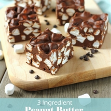 Three-Ingredient Peanut Butter Marshmallow Fudge