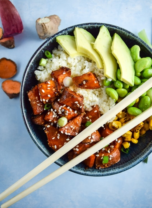 Teriyaki Cauliflower Rice Bowls