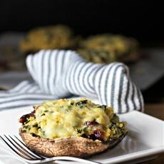 kale and quinoa stuffed portobello mushrooms