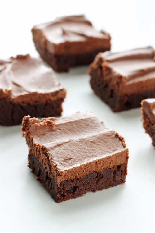 Classic Fudge Brownies with Milk Chocolate Frosting