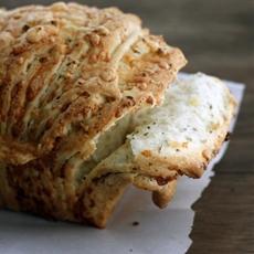 Cheesy garlic herb pull-apart bread