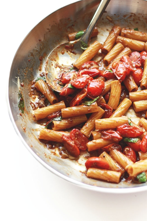 Balsamic Rigatoni For One