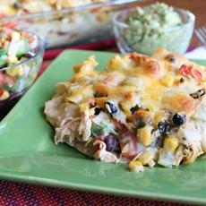 Easy Stacked Enchiladas Verdes