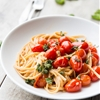 Easy Garlic Butter and Burst Tomato Linguine