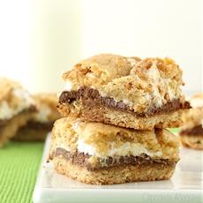 Smores Cookie Crumb Bars