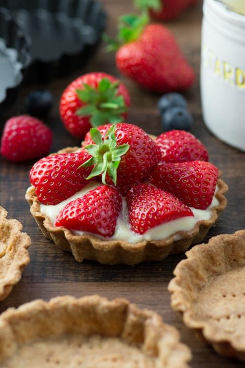 Summer Berry and Custard Tarts