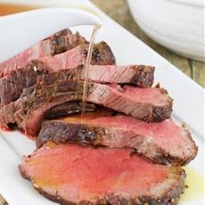 Roasted Beef Tenderloin with Garlic Brown Butter Sauce