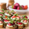 Whipped Basil Ricotta and Strawberry Crostini