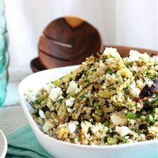 Grilled Zucchini and Feta Quinoa Salad