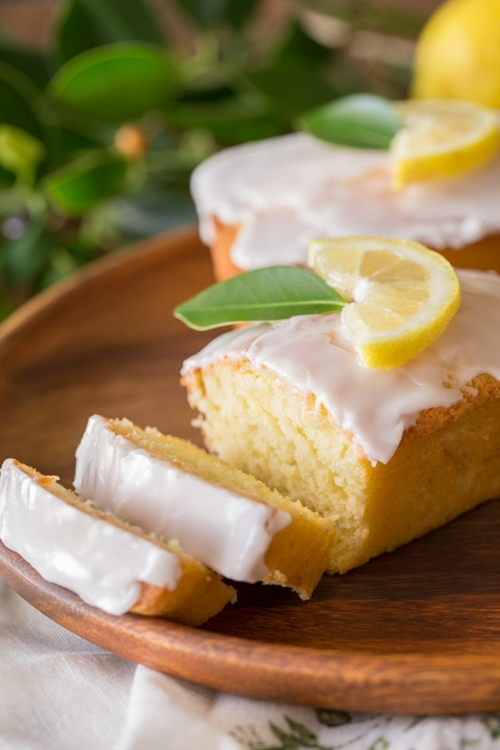 Mini Iced Lemon Pound Cake Loaves