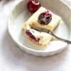 Cherry Cheesecake Bars with Coconutty Shortbread Crust