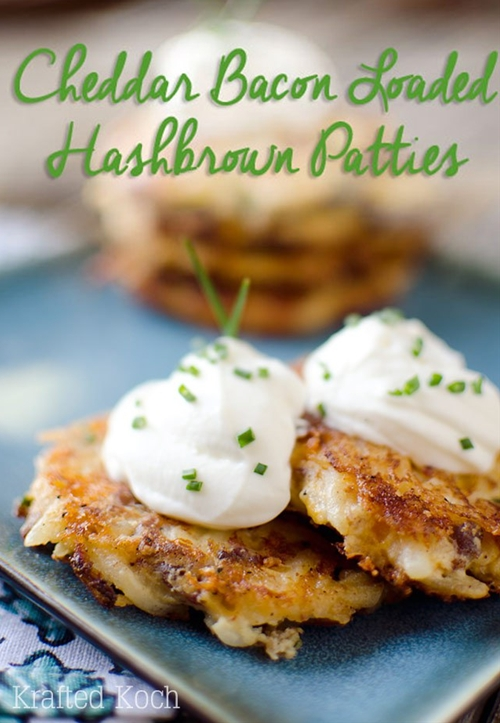 Cheddar Bacon Loaded Hashbrown Patties