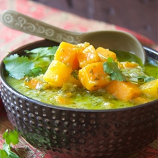 Butternut squash fresh green curry