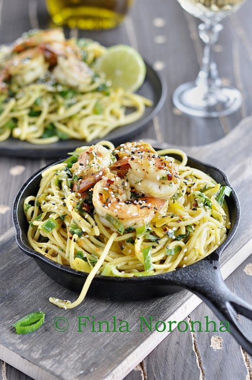 Pasta with Scampi Lime and Saffron