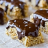 Salted Dark Chocolate Almond Butter Granola Bars (No Bake)