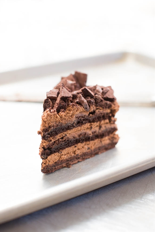 Chocolate Mousse Meringue Cake