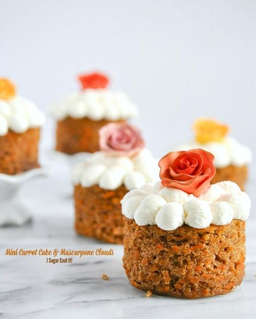 Mascarpone Clouds Mini Carrot Cake