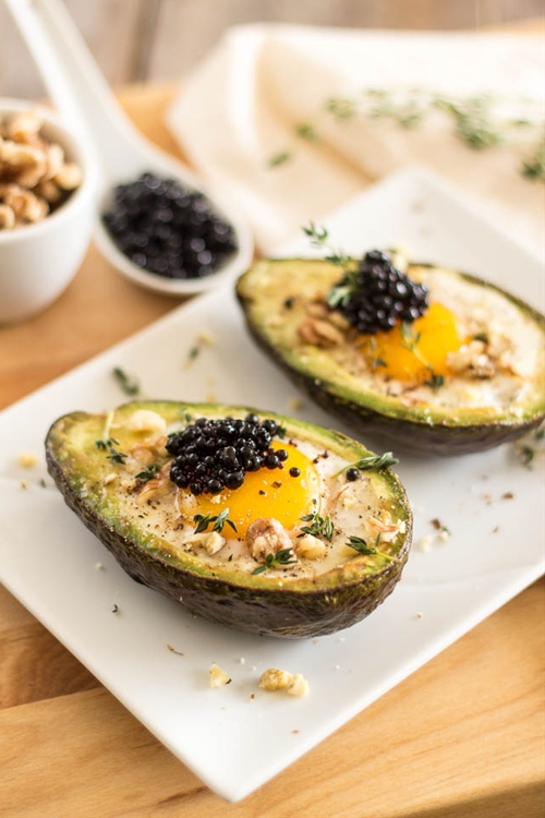 Eggs Baked in Avocado Boat