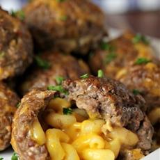 Mac & Cheese Stuffed Meatballs!