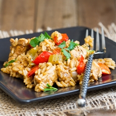 Cajun Chicken and Rice Skillet