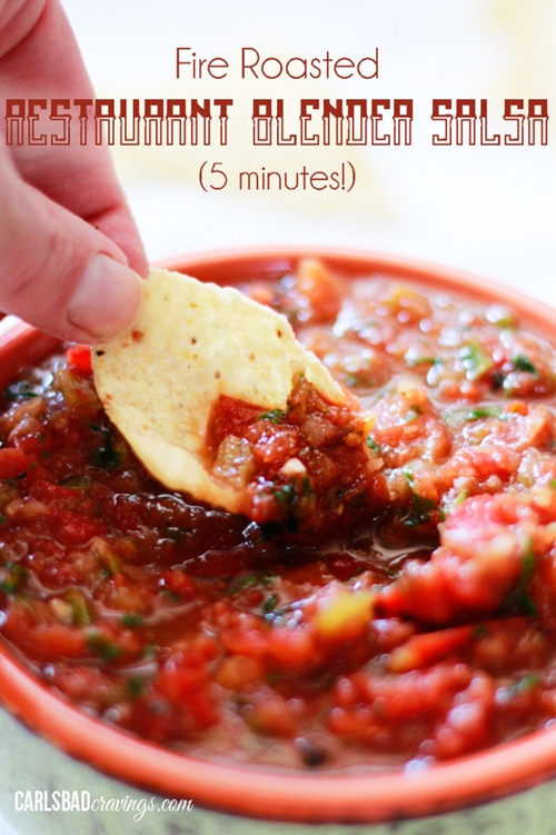 Fire Roasted Restaurant Blender Salsa (5 Minutes!)