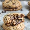 Peanut Butter Chocolate Chip Caramel Filled Cookies
